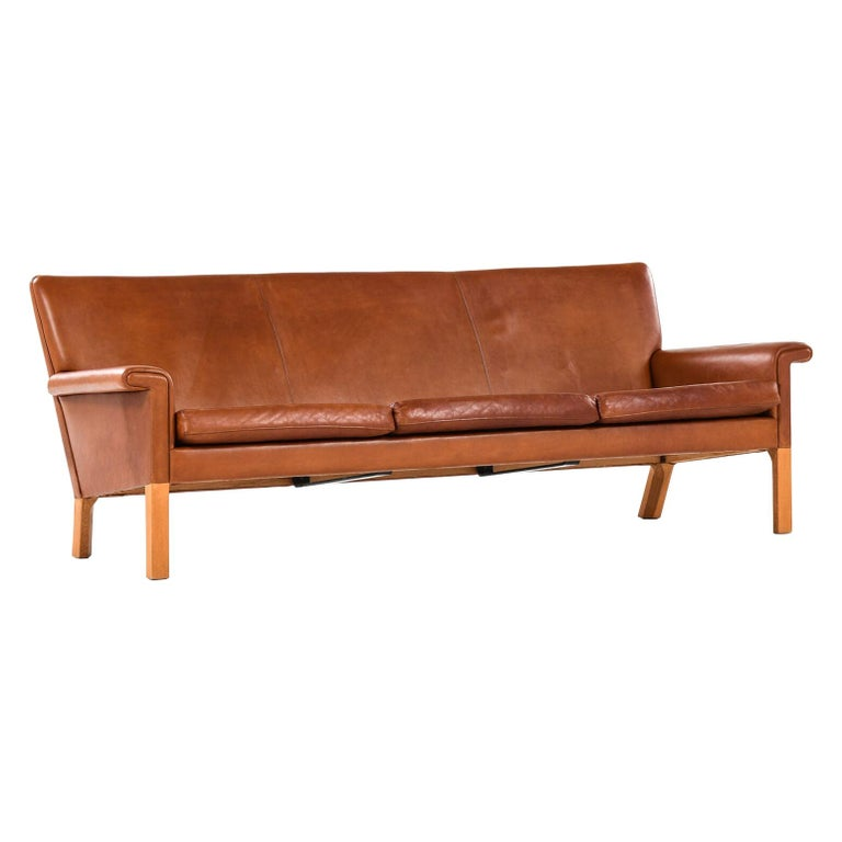 Hans Wegner Sofa Model AP-64 Produced by AP-Stolen in Denmark For Sale