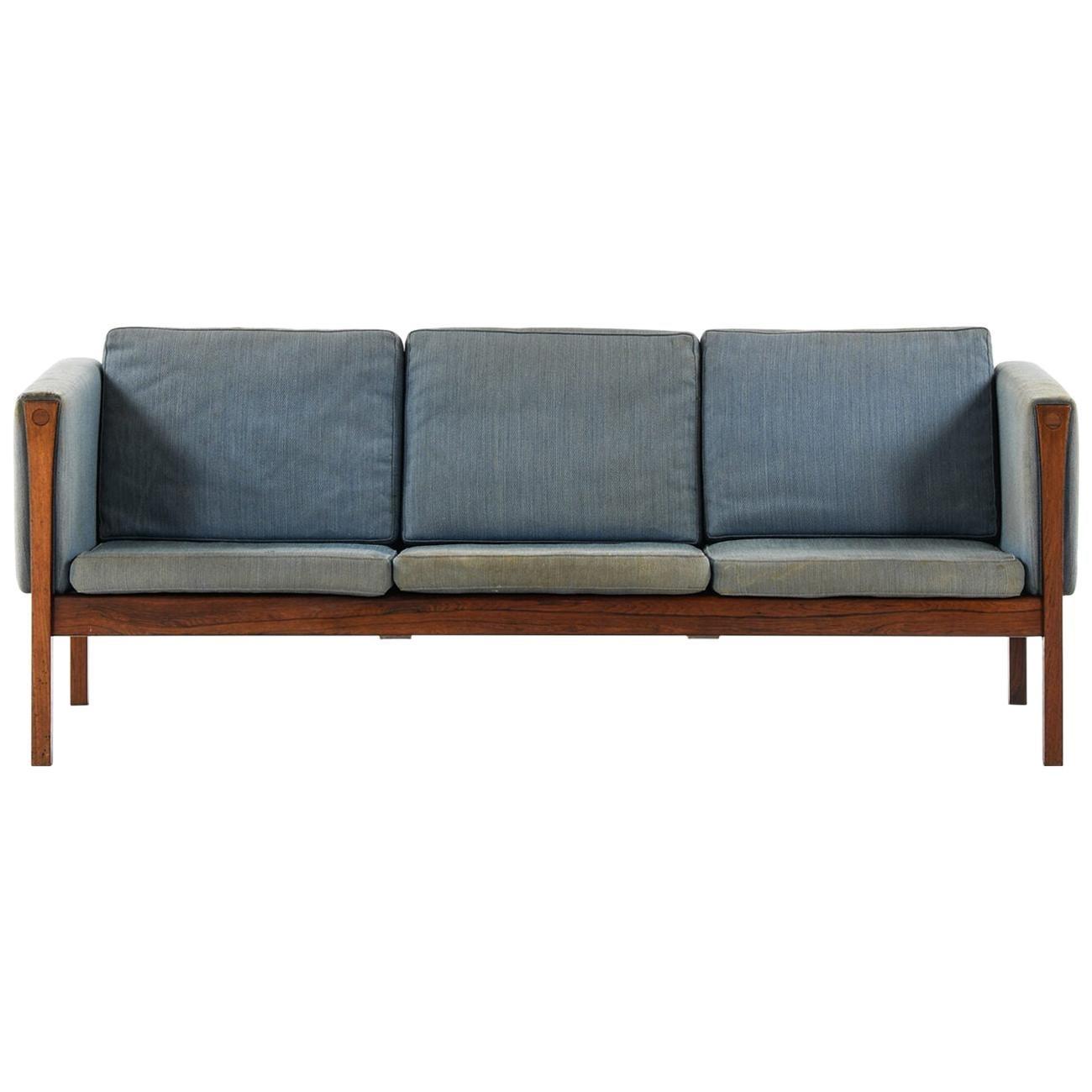 Hans Wegner Sofa Model CH163 Produced by Carl Hansen & Son in Denmark
