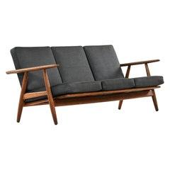 Hans Wegner Sofa Model Ge-240 / Cigar Produced by GETAMA in Denmark