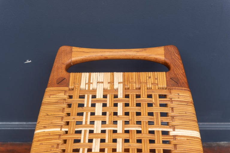 Hans Wegner Stool for Johannes Hansen In Good Condition For Sale In San Francisco, CA