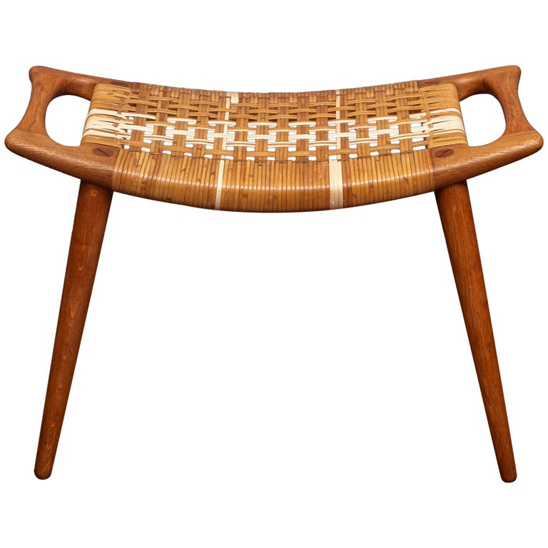 Hans Wegner Stool for Johannes Hansen For Sale