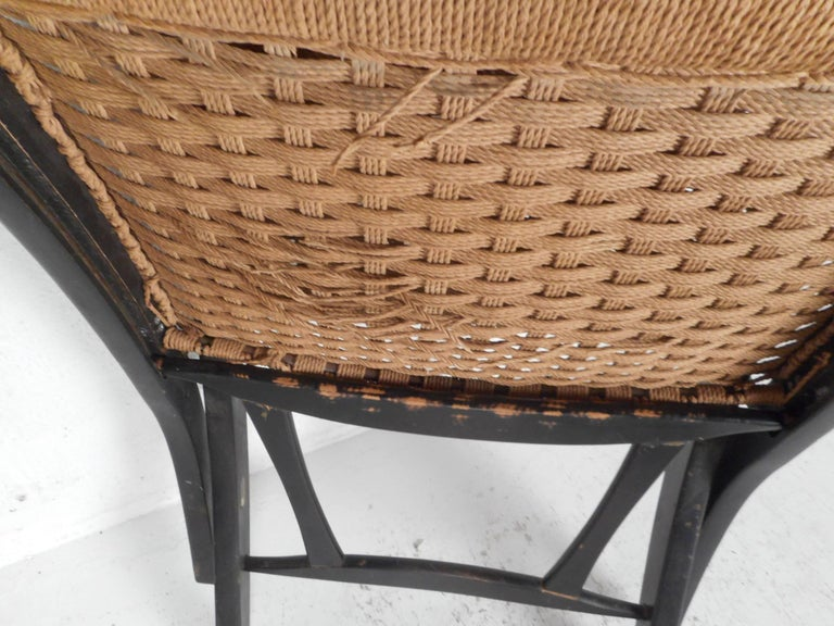 Folding Rope Lounge Chair For Sale 5