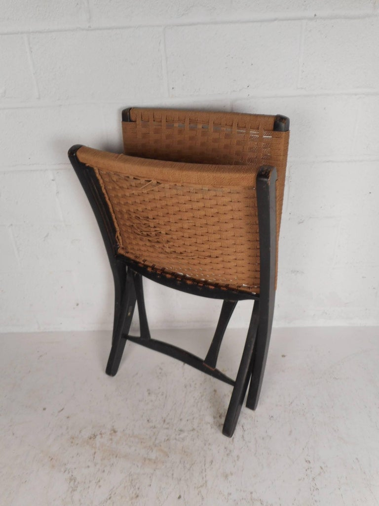 Folding Rope Lounge Chair For Sale 1