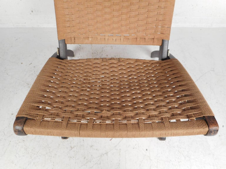 Folding Rope Lounge Chair For Sale 3