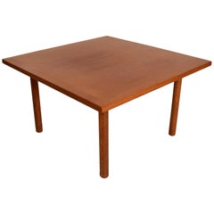 Hans Wegner Teak and Oak Coffee Table Midcentury Danish Modern, 1960s