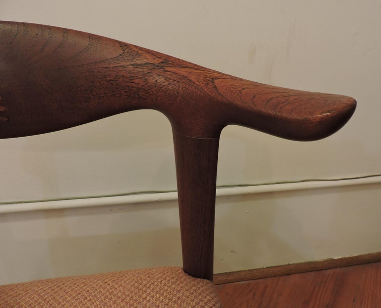 Hans Wegner Teak Cow Horn Chair Model JH 505 for Johannes Hansen 7
