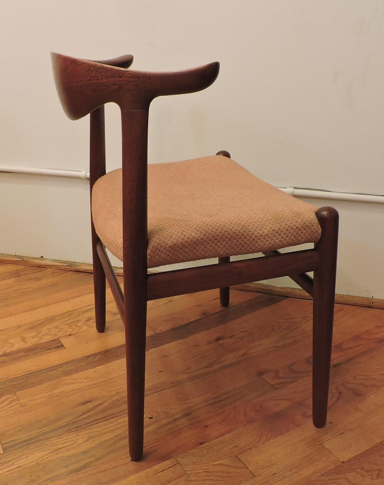 Danish Hans Wegner Teak Cow Horn Chair Model JH 505 for Johannes Hansen