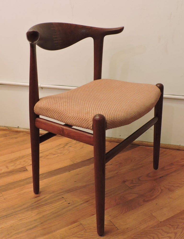 Hans Wegner Teak Cow Horn Chair Model JH 505 for Johannes Hansen In Good Condition In Chesterfield, NJ