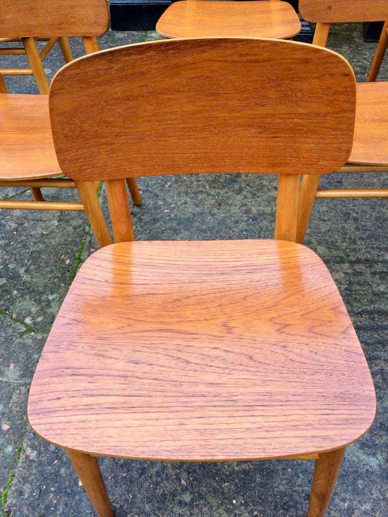 Hans Wegner Teak Dining Chairs Set of Ten for Fritz Hansen 4101, Denmark For Sale 4