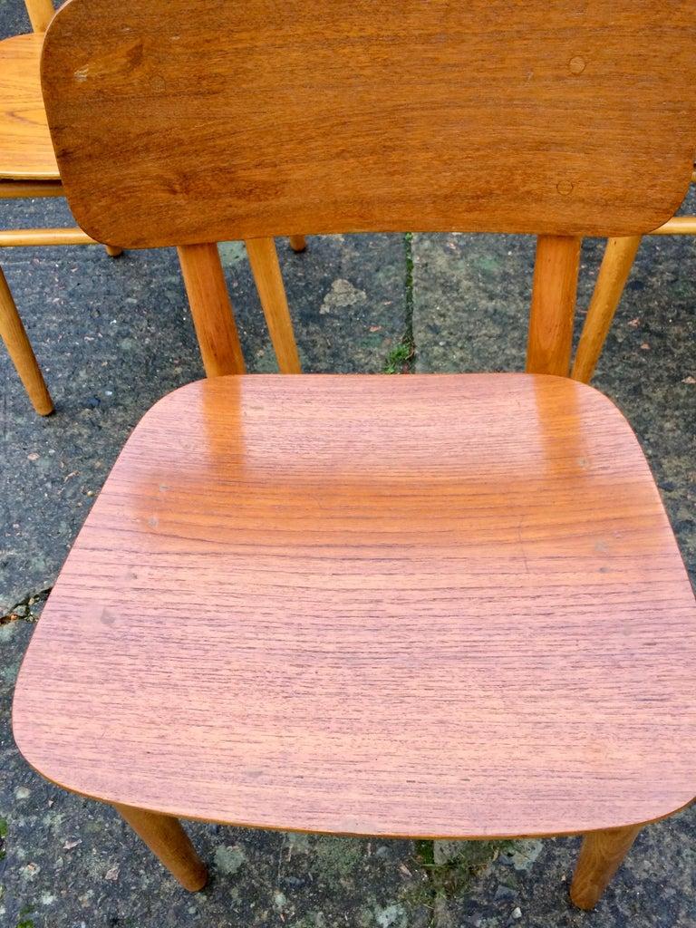 Hans Wegner Teak Dining Chairs Set of Ten for Fritz Hansen 4101, Denmark For Sale 5