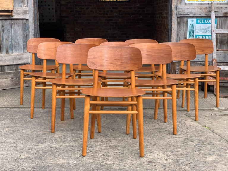 Hans Wegner Teak Dining Chairs Set of Ten for Fritz Hansen 4101, Denmark For Sale 7