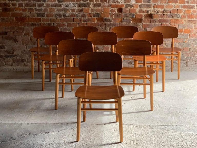 Hans Wegner Teak Dining Chairs Set of Ten for Fritz Hansen 4101, Denmark For Sale 9