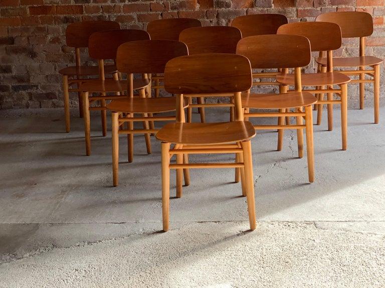 Hans Wegner Teak Dining Chairs Set of Ten for Fritz Hansen 4101, Denmark For Sale 10