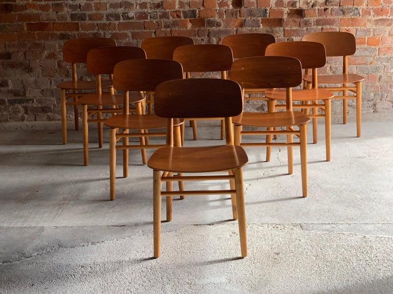 Hans Wegner Teak Dining Chairs Set of Ten for Fritz Hansen 4101, Denmark For Sale 11