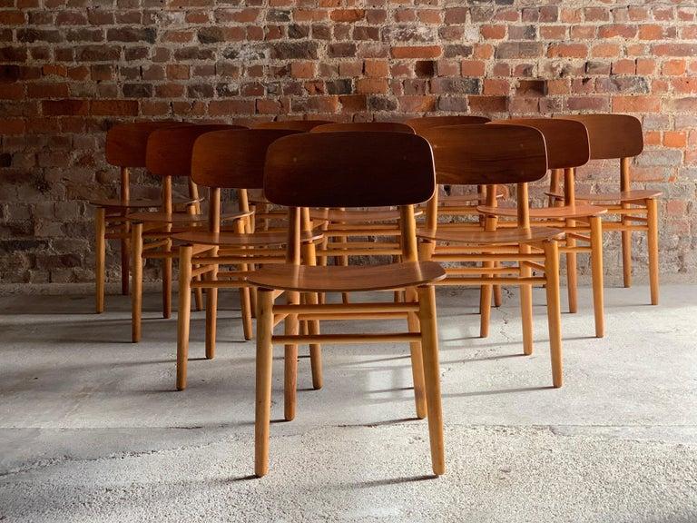 Hans Wegner Teak Dining Chairs Set of Ten for Fritz Hansen 4101, Denmark For Sale 12