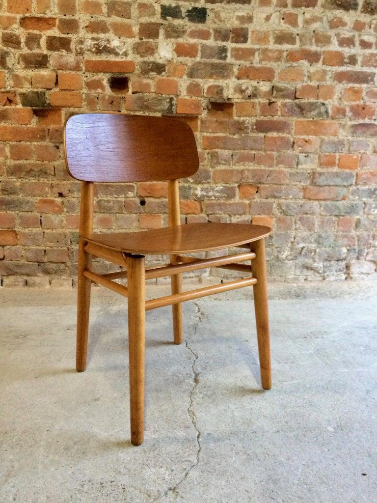 Mid-Century Modern Hans Wegner Teak Dining Chairs Set of Ten for Fritz Hansen 4101, Denmark For Sale