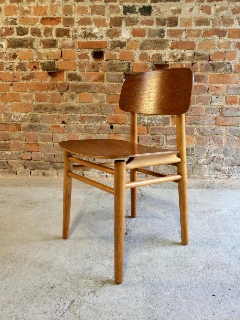 Danish Hans Wegner Teak Dining Chairs Set of Ten for Fritz Hansen 4101, Denmark For Sale