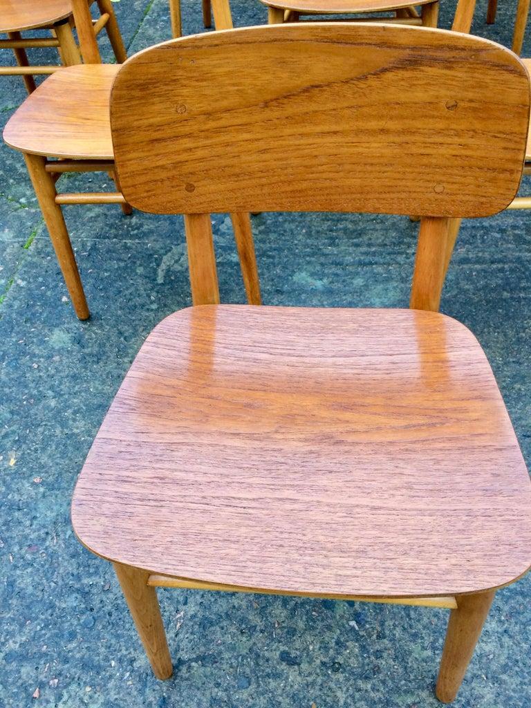 Hans Wegner Teak Dining Chairs Set of Ten for Fritz Hansen 4101, Denmark For Sale 2