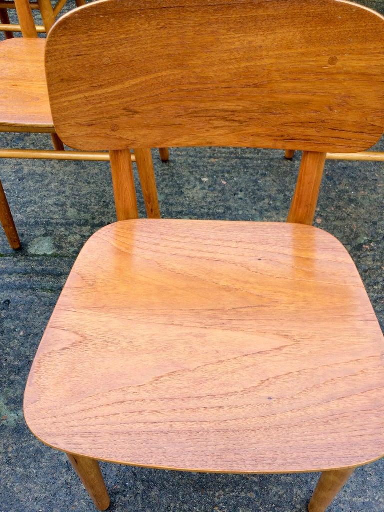 Hans Wegner Teak Dining Chairs Set of Ten for Fritz Hansen 4101, Denmark For Sale 3