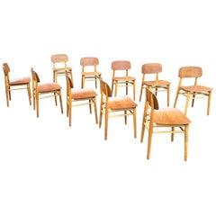 Hans Wegner Teak Dining Chairs Set of Ten for Fritz Hansen 4101, Denmark