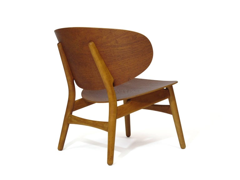 Hans Wegner Teak Shell Chair FH In Excellent Condition For Sale In Berkeley, CA