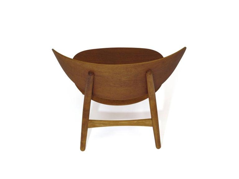 Hans Wegner Teak Shell Chair FH For Sale 1