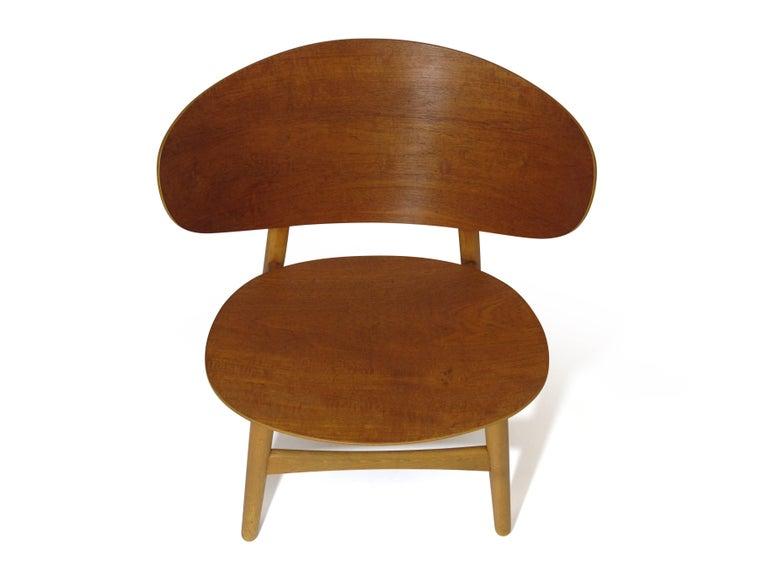 Hans Wegner Teak Shell Chair FH For Sale 2