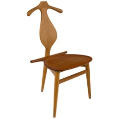 Hans Wegner Teak Valet Chair by Johannes Hansen for Knoll, Denmark, 1960s