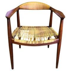 "Hans Wegner ""The Chair"" Early Version Teak & Cane JH-501 Chair Johannes Hansen"