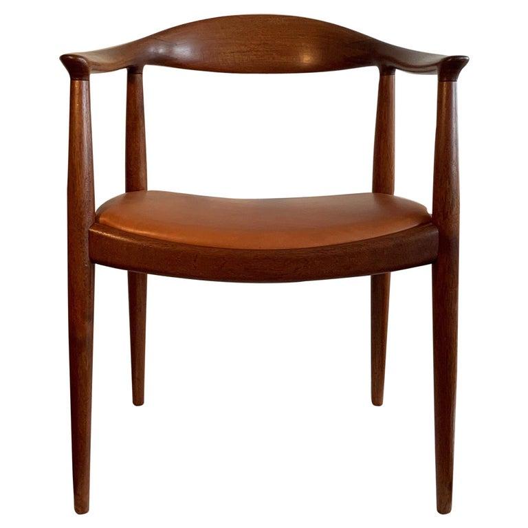 """Hans Wegner """"The"""" Chair Johannes Hansen Teak Original Danish For Sale"""