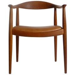 """Hans Wegner, 'the' or """"Round"""" Chair for Johannes Hansen, Denmark, Stamped"""