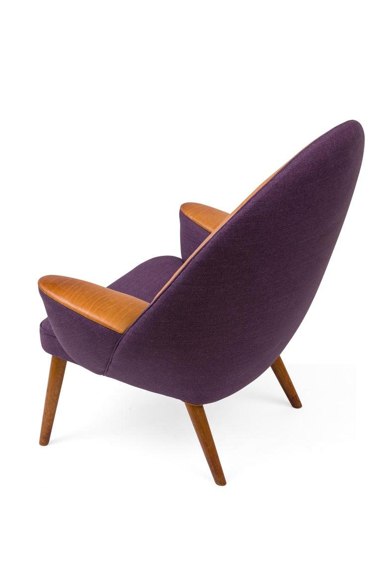 Danish Hans Wegner Upholstered Peacock Easy Chair Model JH521, Denmark, 1953 For Sale