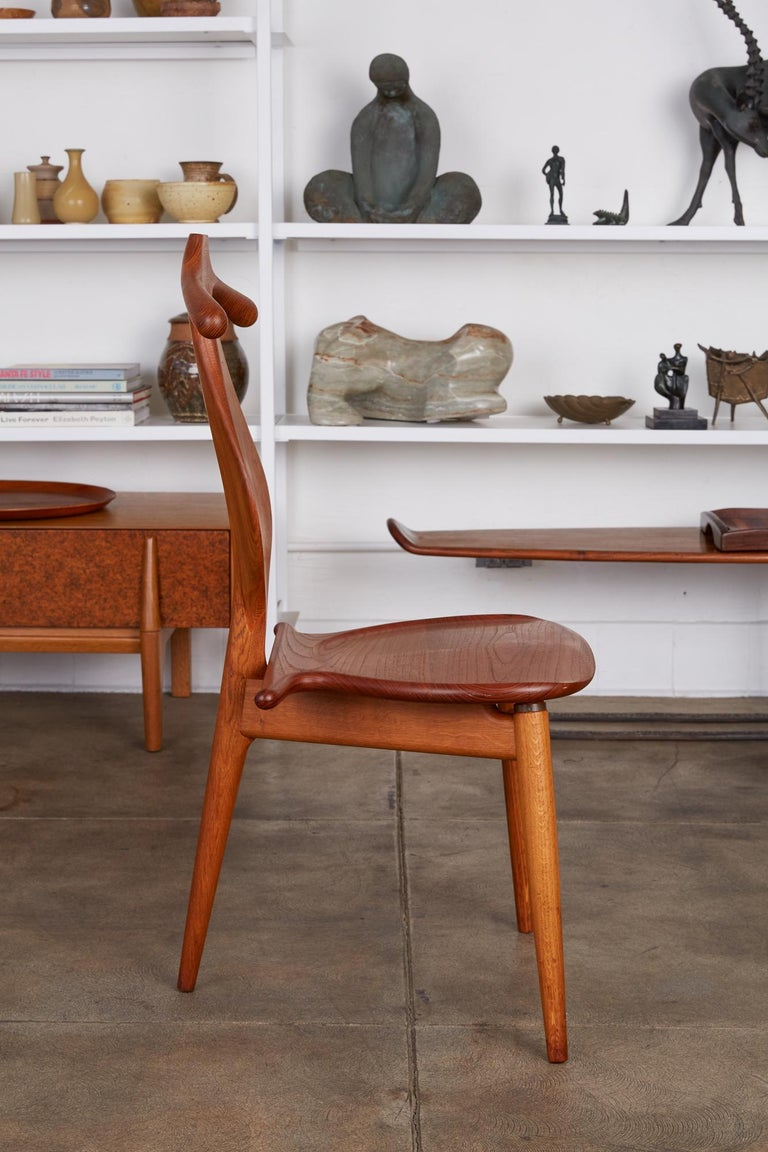 Oiled Hans Wegner Valet Chair For Sale