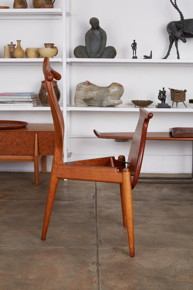 Brass Hans Wegner Valet Chair For Sale