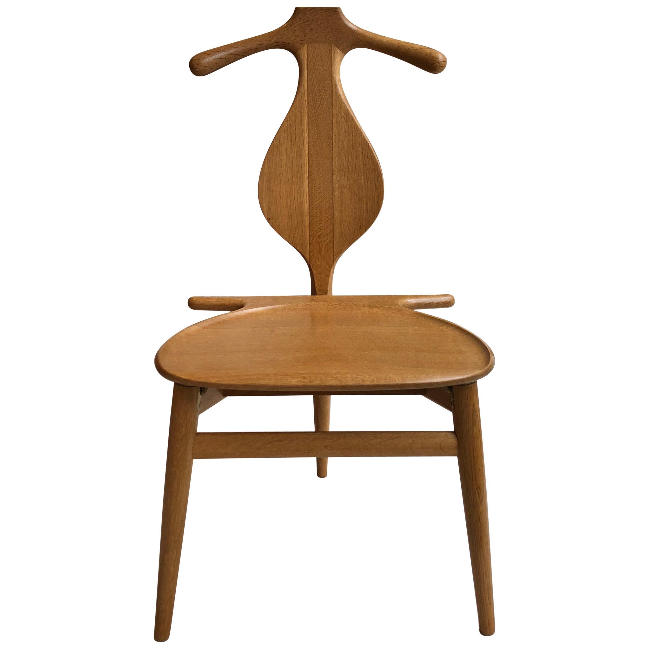 Hans Wegner 'Valet Chair' in Solid Oak for Johannes Hansen, 1953