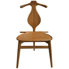 Hans Wegner 'Valet Chair' in Solid Oak for Johannes Hansen, 1953