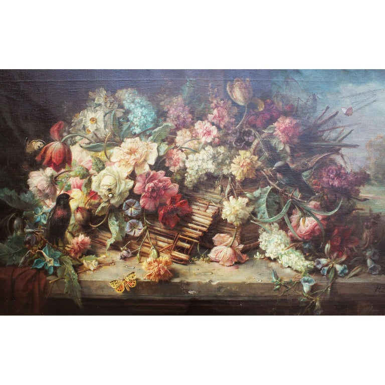 Belle Époque Hans Zatzka Oil on Canvas