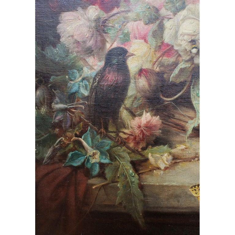 Gilt Hans Zatzka Oil on Canvas