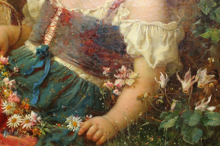 Hans Zatzka, 'Austrian, 1859-1945' Exceptional Oil on Canvas