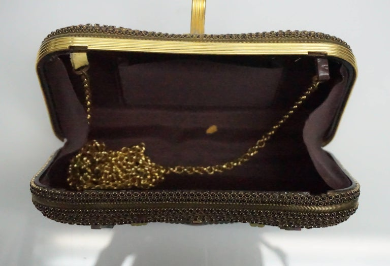 Hansen Designs Vintage Jeweled Clutch  In Excellent Condition For Sale In Palm Beach, FL