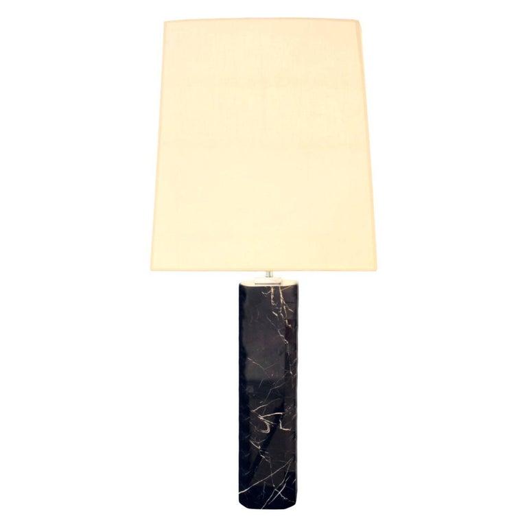 Hansen Lighting Table Lamp in Black Marble, 1960s