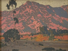"""""""Southern California Mountain Landscape,"""" Hanson Puthuff, Impressionist View"""