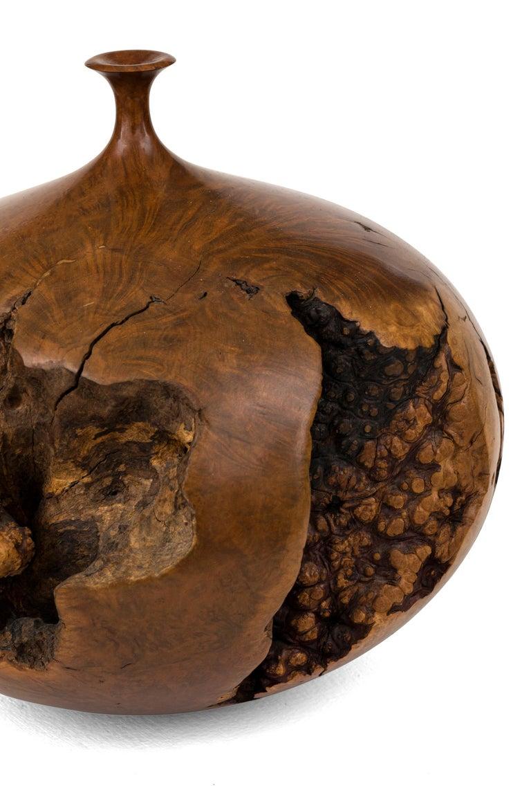 Late 20th Century Hap Sakwa Turned Manzanita Wood Vessel, USA 1982 For Sale