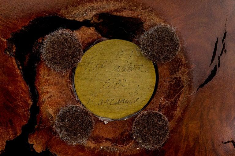 Hap Sakwa Turned Manzanita Wood Vessel, USA 1982 For Sale 2