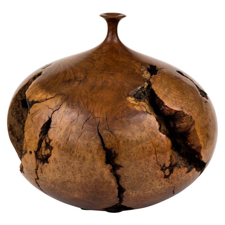 Hap Sakwa Turned Manzanita Wood Vessel, USA 1982 For Sale