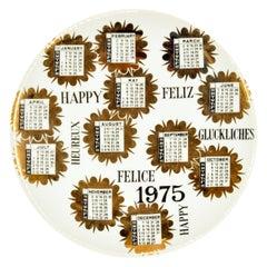 Happy 1975, Calendar Series by Piero Fornasetti, 1975