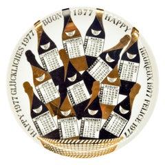 Happy 1977, Calendar Series by Piero Fornasetti, 1977