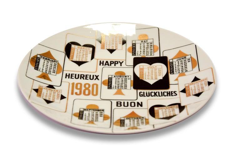 Italian Happy 1980, Calendar Series by Piero Fornasetti, 1980 For Sale