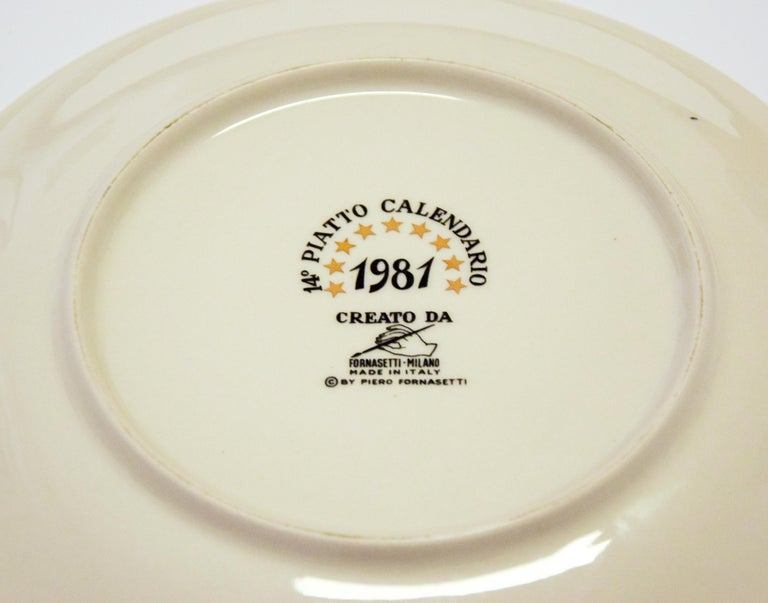 Happy 1981, Calendar Series by Piero Fornasetti, 1981 In Good Condition For Sale In Roma, IT