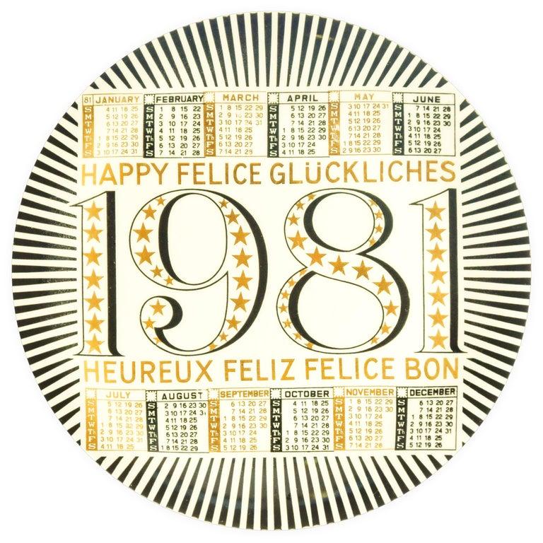 Happy 1981, Calendar Series by Piero Fornasetti, 1981 For Sale